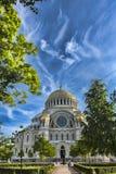 Marinekathedrale von St. Nicholas Nikolsky Marine Cathedral in Kronstadt, stockbild