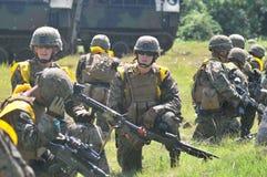 Marinekräfte Vereinigter Staaten in Indonesien Stockfotografie