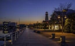 Marinemall Sonnenuntergang Lizenzfreies Stockfoto