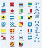Marinemarkierungsfahnen. Stockfotografie