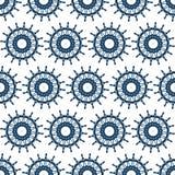 Marinenahtloses Muster des lenkrads Stockbild