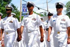 Marineoffiziere stockbild