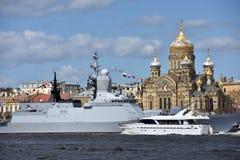 Marineparade eingeweiht Victory Day in St Petersburg, Russland stockfotografie