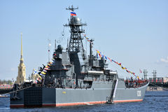 Marineparade eingeweiht Victory Day in St Petersburg, Russland lizenzfreies stockbild
