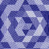 Marinepatchworkmandala, Kaleidoskop, Zusammenfassung, Blüte, Effektdavidsstern im Dreieckmosaik Stockfoto