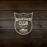 Mariner club badges logos and labels for any use Stock Photography