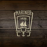 Mariner club badges logos and labels for any use Stock Photos