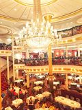 Mariner of the seas restaurant 海洋水手号餐厅. Amazing three floors of restaurant in the cruise Stock Images