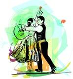 Иллюстрация marinera танцев пар Стоковое Фото