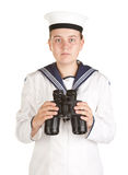 Marinero de la marina con los prismáticos Fotografía de archivo libre de regalías