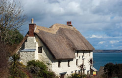 Thatched Cottage Church Cove Cornwall Royalty Free Stock Photography