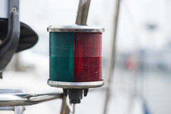 Mariners lamp used on ship or boat. Mariners lamp used on either Port or Starboard side of a ship or boat Royalty Free Stock Images