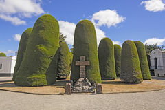 Mariners Mermorial in a Cemetery Stock Image