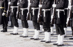 Marines. Line up in a parade royalty free stock photos