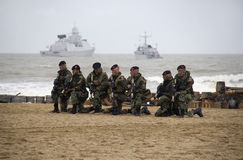 Marines on the Beach Royalty Free Stock Photography