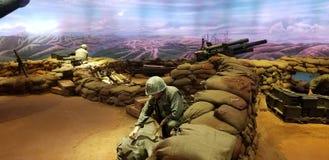 Marines dans l'affichage du Vietnam photo libre de droits