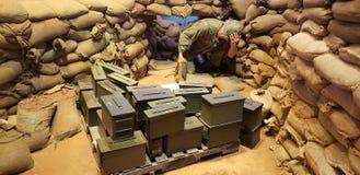Marines dans l'affichage du Vietnam images stock