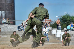 Marines demonstrate martial arts techniques Royalty Free Stock Photos