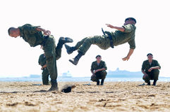 Marines demonstrate martial arts techniques Stock Photo