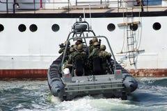 Marines entering Stock Image