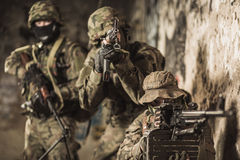 Marines during military maneuver Stock Photography