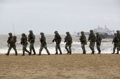 Marines sur la plage Image stock