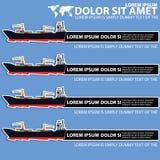 Marineschiffstransport und leerer Farbstreifen Lizenzfreies Stockbild
