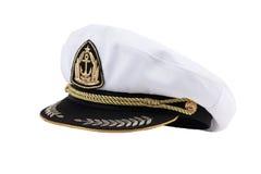 Marineschutzkappe mit einer Blende Lizenzfreie Stockfotos
