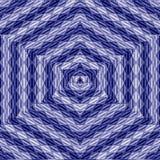 Marinesehen Marinepatchworkmandala, Kaleidoskop, Zusammenfassung, Blüte, Stern im Dreieckmosaik Stockbilder