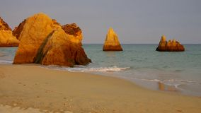 Marinha пляжа Алгарве видеоматериал