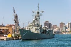 A marinha australiana real de HMAS Melbourne (iii) entrou em Sydney Harb Fotos de Stock