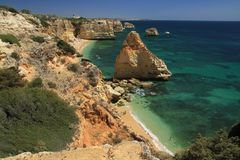 Marinha beach, Algarve Stock Photo