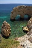 Marinha beach cliffs, Algarve Stock Photography