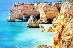 Marinha Beach,  located on the Atlantic coast in Algar. Marinha Beach,  located on the Atlantic coast in Portugal,Algarve Royalty Free Stock Photos