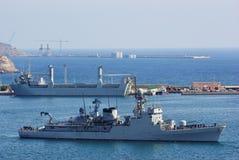 Marinha Corveta e auxiliar Foto de Stock Royalty Free