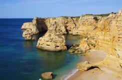 Marinha de plage d'Algarve Photographie stock