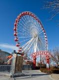Marinha Pier Ferris Wheel Fotos de Stock Royalty Free