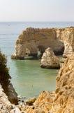 Marinha plaża, Algarve, Portugalia zdjęcia royalty free