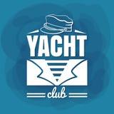 Marinheiro branco do yacht club da rotulação Fotografia de Stock