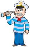 Marinheiro com spyglass ilustração stock