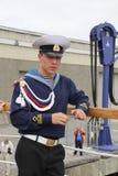 Marinheiro do russo da fragata Pallada fotografia de stock