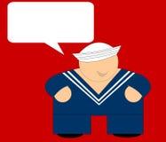 Marinheiro feliz - cartão da mensagem Imagem de Stock