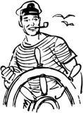 Marinheiro At The Helm Fotografia de Stock