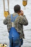 Marinheiro no telefone foto de stock royalty free