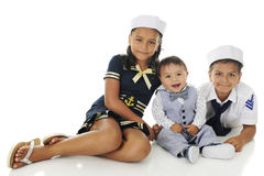 Marinheiros novos três Imagem de Stock Royalty Free