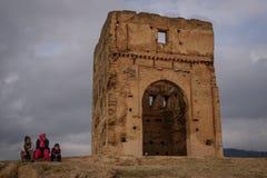 Marinid gravvalv i Fez morocco royaltyfria foton