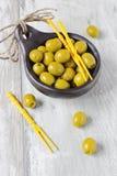 Marinierte Oliven Stockfoto