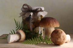 Marinierte Pilze lizenzfreie stockfotos
