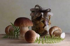 Marinierte Pilze lizenzfreie stockbilder