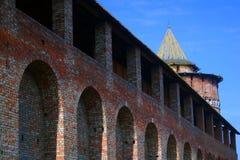 Marinkina tower and Kremlin wall. Royalty Free Stock Photos